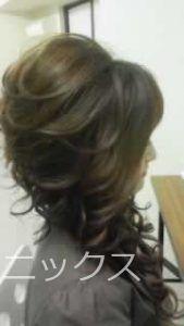 キャバ嬢盛り髪